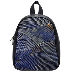 Textures Sea Blue Water Ocean School Bags (small)