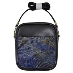 Textures Sea Blue Water Ocean Girls Sling Bags by Nexatart