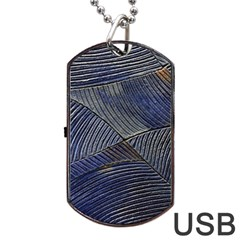 Textures Sea Blue Water Ocean Dog Tag Usb Flash (one Side) by Nexatart