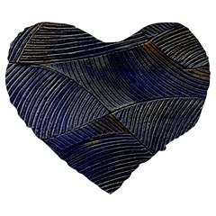 Textures Sea Blue Water Ocean Large 19  Premium Heart Shape Cushions