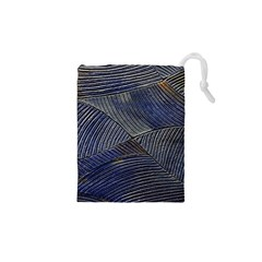 Textures Sea Blue Water Ocean Drawstring Pouches (xs)