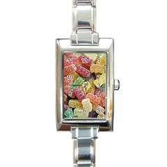 Jelly Beans Candy Sour Sweet Rectangle Italian Charm Watch