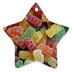 Jelly Beans Candy Sour Sweet Ornament (star)
