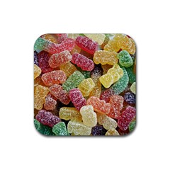 Jelly Beans Candy Sour Sweet Rubber Square Coaster (4 Pack)