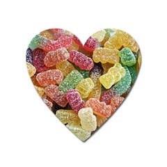 Jelly Beans Candy Sour Sweet Heart Magnet by Nexatart