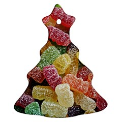 Jelly Beans Candy Sour Sweet Christmas Tree Ornament (two Sides) by Nexatart