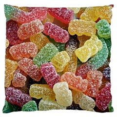 Jelly Beans Candy Sour Sweet Large Cushion Case (one Side)