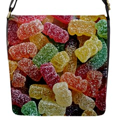 Jelly Beans Candy Sour Sweet Flap Messenger Bag (s) by Nexatart