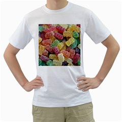 Jelly Beans Candy Sour Sweet Men s T Shirt (white)