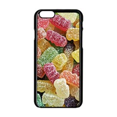 Jelly Beans Candy Sour Sweet Apple Iphone 6/6s Black Enamel Case by Nexatart