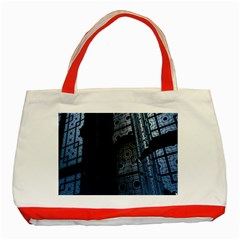 Graphic Design Background Classic Tote Bag (red)
