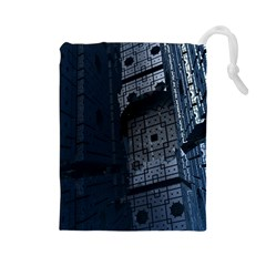 Graphic Design Background Drawstring Pouches (large)  by Nexatart