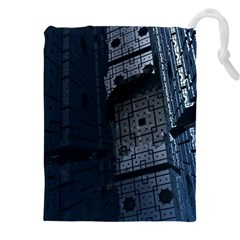 Graphic Design Background Drawstring Pouches (xxl)