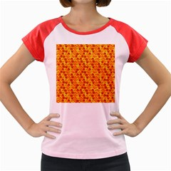 Honeycomb Pattern Honey Background Women s Cap Sleeve T Shirt
