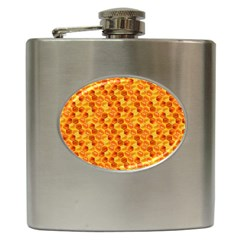 Honeycomb Pattern Honey Background Hip Flask (6 Oz)