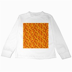Honeycomb Pattern Honey Background Kids Long Sleeve T Shirts