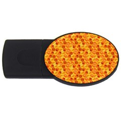 Honeycomb Pattern Honey Background Usb Flash Drive Oval (4 Gb)
