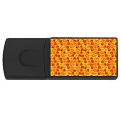 Honeycomb Pattern Honey Background Usb Flash Drive Rectangular (4 Gb)