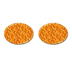 Honeycomb Pattern Honey Background Cufflinks (oval) by Nexatart
