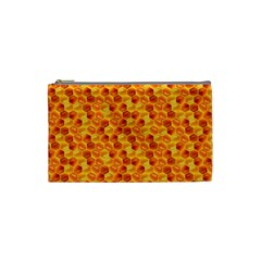 Honeycomb Pattern Honey Background Cosmetic Bag (small)  by Nexatart