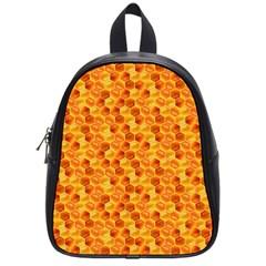 Honeycomb Pattern Honey Background School Bags (small)  by Nexatart