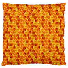 Honeycomb Pattern Honey Background Large Cushion Case (one Side)