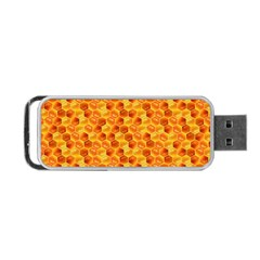 Honeycomb Pattern Honey Background Portable Usb Flash (two Sides) by Nexatart