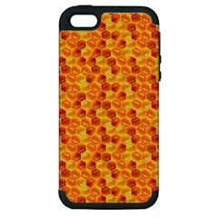 Honeycomb Pattern Honey Background Apple Iphone 5 Hardshell Case (pc+silicone)