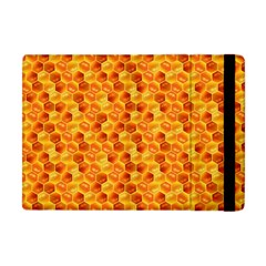 Honeycomb Pattern Honey Background Apple Ipad Mini Flip Case by Nexatart