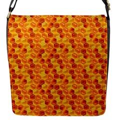 Honeycomb Pattern Honey Background Flap Messenger Bag (s)