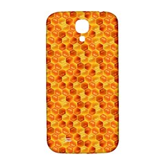 Honeycomb Pattern Honey Background Samsung Galaxy S4 I9500/i9505  Hardshell Back Case