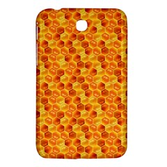 Honeycomb Pattern Honey Background Samsung Galaxy Tab 3 (7 ) P3200 Hardshell Case  by Nexatart