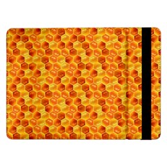 Honeycomb Pattern Honey Background Samsung Galaxy Tab Pro 12 2  Flip Case by Nexatart