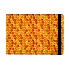 Honeycomb Pattern Honey Background Ipad Mini 2 Flip Cases by Nexatart