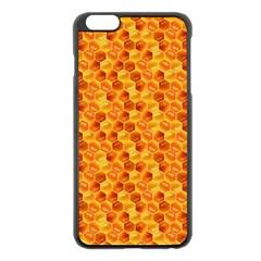 Honeycomb Pattern Honey Background Apple Iphone 6 Plus/6s Plus Black Enamel Case by Nexatart