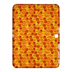 Honeycomb Pattern Honey Background Samsung Galaxy Tab 4 (10 1 ) Hardshell Case  by Nexatart