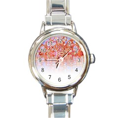 Effect Isolated Graphic Round Italian Charm Watch