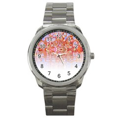 Effect Isolated Graphic Sport Metal Watch by Nexatart