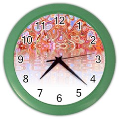 Effect Isolated Graphic Color Wall Clocks