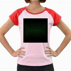Optical Illusion Grid in Black and Neon Green Women s Cap Sleeve T-Shirt by PodArtist