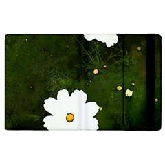 Daisies In Green Apple Ipad 2 Flip Case by DeneWestUK