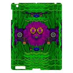 Summer Flower Girl With Pandas Dancing In The Green Apple Ipad 3/4 Hardshell Case by pepitasart