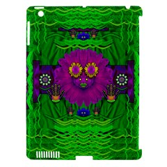 Summer Flower Girl With Pandas Dancing In The Green Apple Ipad 3/4 Hardshell Case (compatible With Smart Cover) by pepitasart
