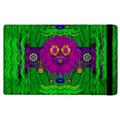 Summer Flower Girl With Pandas Dancing In The Green Apple Ipad 3/4 Flip Case by pepitasart