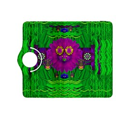 Summer Flower Girl With Pandas Dancing In The Green Kindle Fire Hdx 8 9  Flip 360 Case by pepitasart