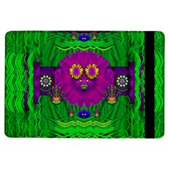 Summer Flower Girl With Pandas Dancing In The Green Ipad Air Flip by pepitasart