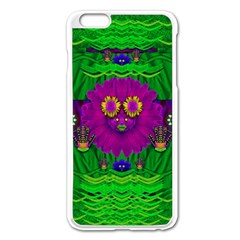Summer Flower Girl With Pandas Dancing In The Green Apple Iphone 6 Plus/6s Plus Enamel White Case by pepitasart