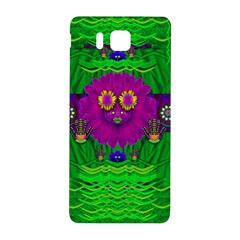 Summer Flower Girl With Pandas Dancing In The Green Samsung Galaxy Alpha Hardshell Back Case by pepitasart
