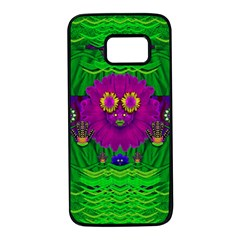 Summer Flower Girl With Pandas Dancing In The Green Samsung Galaxy S7 Black Seamless Case by pepitasart