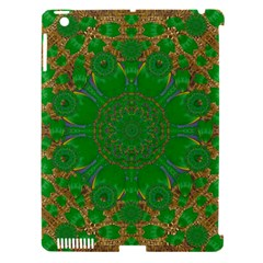 Summer Landscape In Green And Gold Apple Ipad 3/4 Hardshell Case (compatible With Smart Cover) by pepitasart